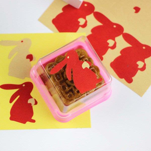 中秋月餅兔子封口貼紙 (6枚入)【JC3784】《Jami Honey》