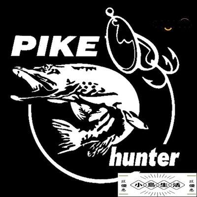 特價折扣熱銷??現貨??免運??批發 Pike Hunter Fish個性車貼汽車配件美容改裝生活 滿200元出貨