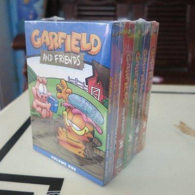 【優品音像】 純英文原版加菲貓和他的朋友們1-5季完整版15DVD動畫片碟片學英語 精美盒裝