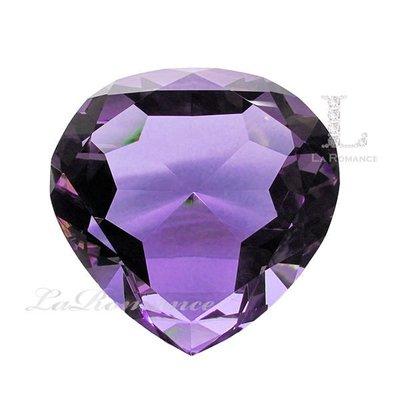 【芮洛蔓 La Romance】 璀璨水晶 - 20 cm 心形水晶鑽 (變彩紫)