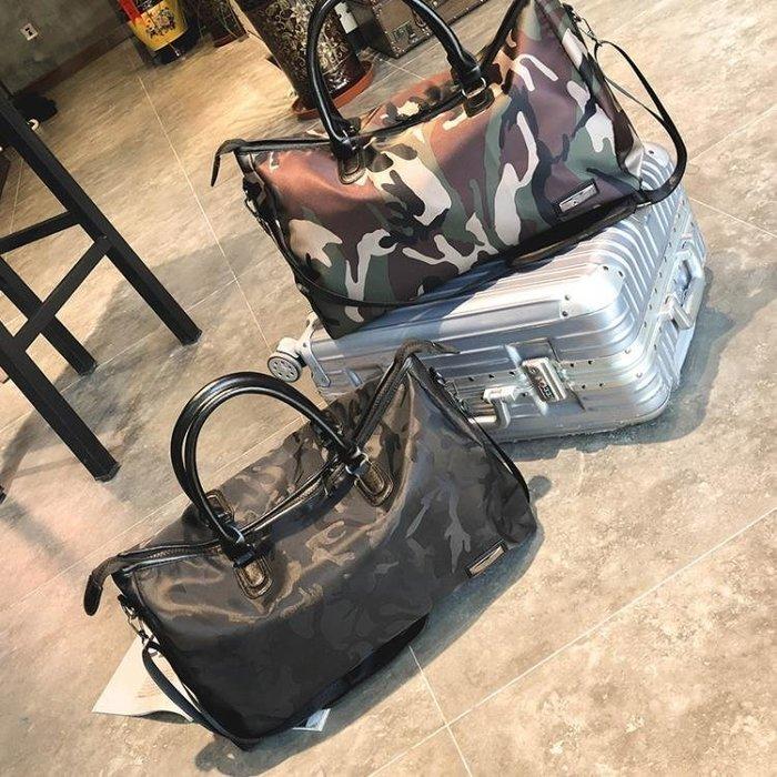 ☜男神閣☞旅行包女手提大容量行李袋短途出差行李包輕便防水單肩包健身包男