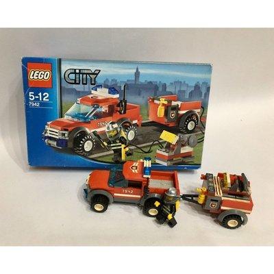 二手樂高Lego 7942 消防小車