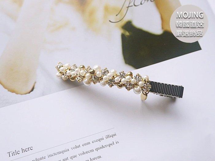 正韓-細工質感爪鑽珍珠滿滿髮夾/Y夾 HR6057