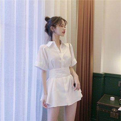 Solo sea全球購正韓女裝夏裝2020年新款裙輕熟風赫本風套裝女夏季洋氣休閒時尚二件套套裝