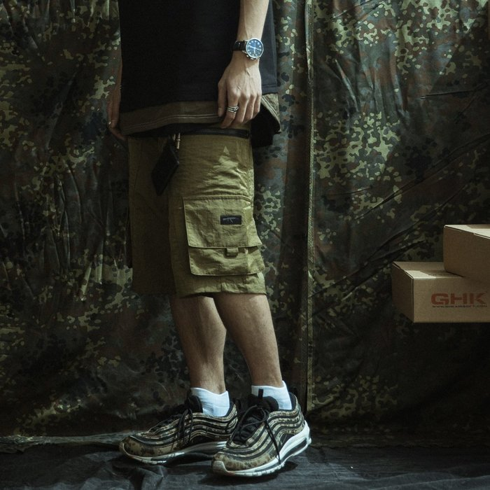 """GHK """"Abstract Collection"""" Tactical Shorts 狼棕色"""
