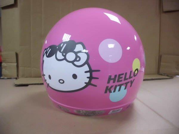 GIFT41 4165本通 三重店 凱蒂貓 HELLO KITTY KT 兒童半罩式 安全帽 - 墨鏡 粉 1308070005-2