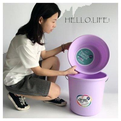儲水桶塑料水桶學生臉盆套裝手提水桶洗澡洗衣洗腳洗車塑膠桶儲水桶   全館免運