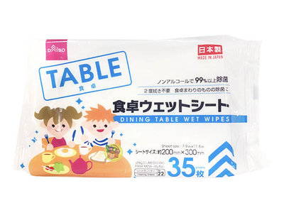 【JPGO】特價-日本製 擦拭餐桌用濕紙巾 不須二度擦拭 35枚入#427