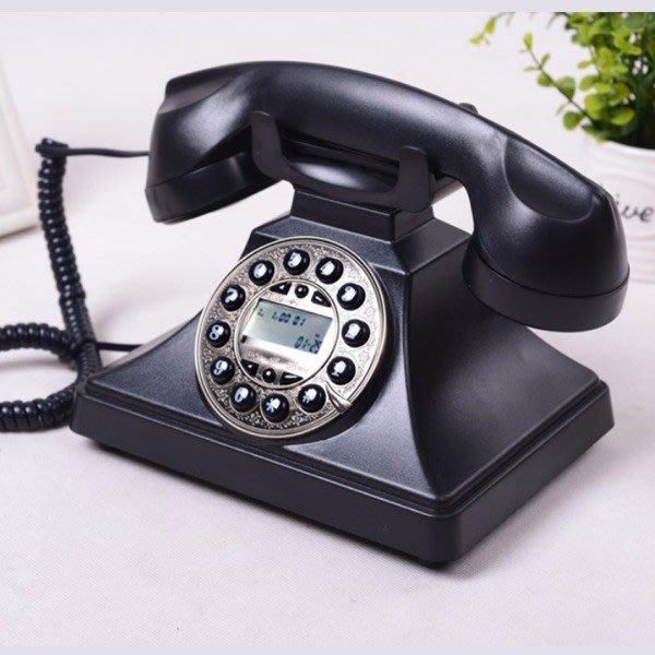 5Cgo【批發】含稅43023710907 民國老上海銀銀老式仿古電話機復古個性古董電話機家用辦公室內電話-背光免提