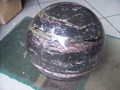 321小舖&特大顆重41.5公斤天然玫瑰石球