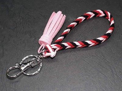 10mm韓國進口麂皮繩人字型多色款吊飾繩鑰匙圈+迷你小流蘇/多色選擇/手工訂製/安妮妲小舖