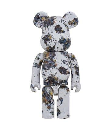 【ToMo】Be@rbrick  Jackson Pollock SPLASH 潑墨 潑漆 三代 1000% 玩具公仔