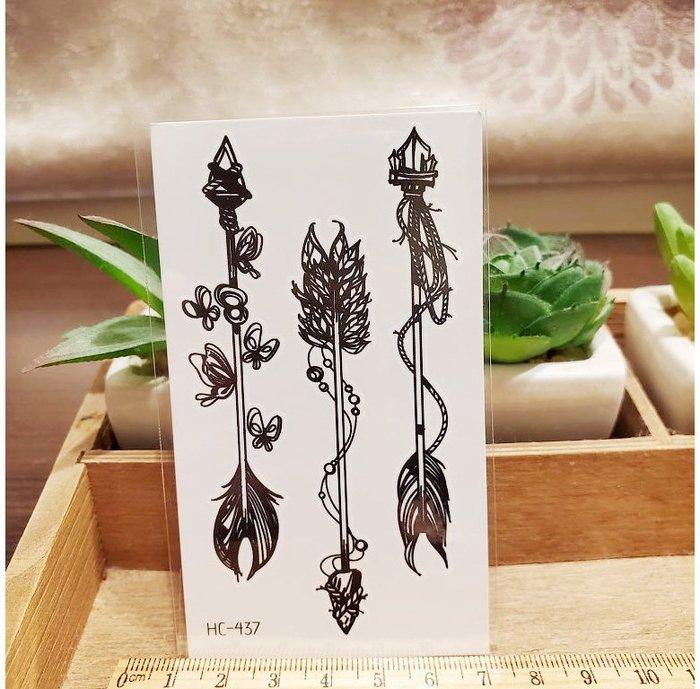 【萌古屋】黑色小圖騰 - 男女防水紋身貼紙刺青貼紙HC-437