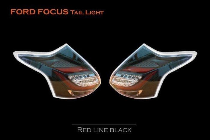 花蓮【阿勇的店】 FOCUS 13 14年 MK3 黑框紅光導版 C型光導式 LED尾燈 FOCUS 尾燈 MK3 尾燈