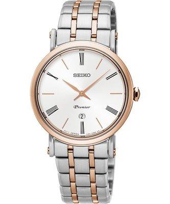 SEIKO 精工 Premier 系列超薄石英女錶(SXB430J1)-銀x雙色/ 30mm 7N89-0AY0G 新北市