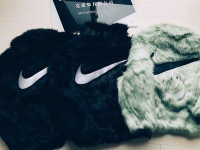 【uniisence】現貨 Nike x Ambush  皮草毛料外套 運動外套 黑色oversize