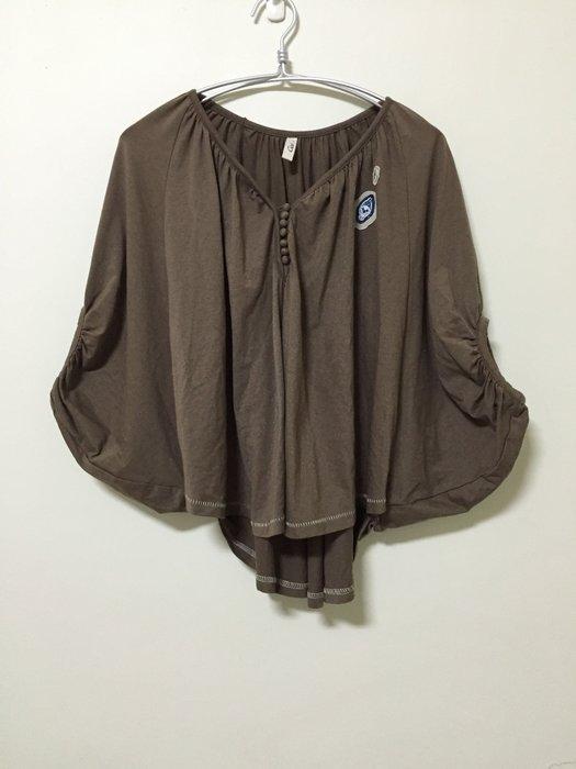 *小熊愛敗家*Gozo 咖啡色小斗篷 罩衫 蝙蝠袖 飛鼠袖