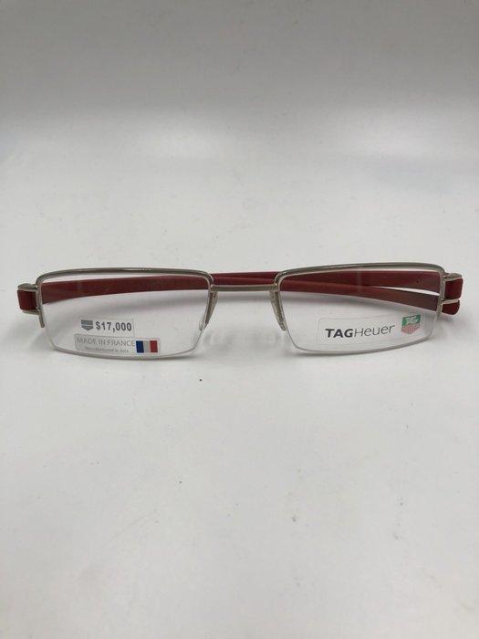 頂傑 TAG HEUER 深紅半框眼鏡 - TH 7206-007