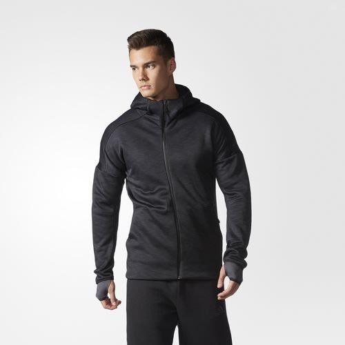 adidas zne climaheat S94831 黑色 印花 LOGO 保暖 排汗 連帽 運動 外套 夾克