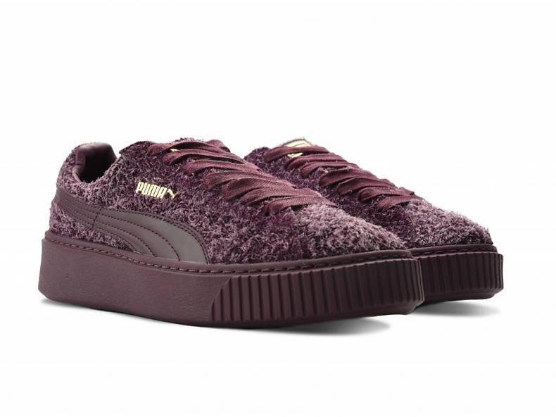 =CodE= PUMA SUEDE PLATFORM LEMENTAL 麂皮增高厚底鞋(酒紅紫) 362224-03 女