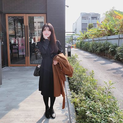 【ZEU'S】韓國春裝氣質長洋裝『 02220913 』【現+預】AB