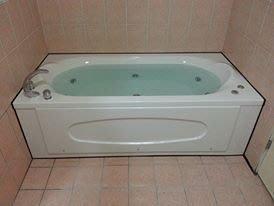 優質精品衛浴(固定式浴缸特殊乾式工法,施打防霉膠) RF-189 純手工按摩浴缸+大C3件式龍頭安裝施工圖1份
