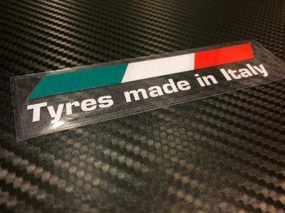 【貼紙倉庫】Tyres made in ltaly 義大利配色