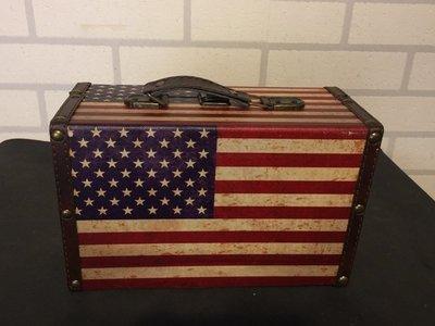 KIPO-米字旗復古做舊老式木盒子 收納盒 木箱子 櫥窗道具 攝影擺飾-DNA0021K4A