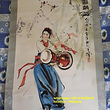 少女鼓舞 古畫 名畫一幅 珍稀品 收藏多年