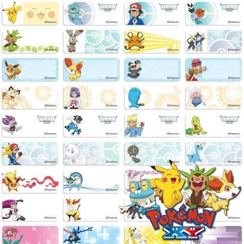 寶可夢 Pokémon GO 神奇寶貝~皮卡丘姓名貼紙~ 高雄瑞豐夜市可面交~文具~書本~原子筆~黏性好不易脫落~辨識性