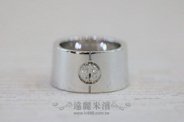 【遠麗】台北大安店~A7525 cartier 750/18白k 寬版 love 系列 6顆鑽石戒指 真品/正品