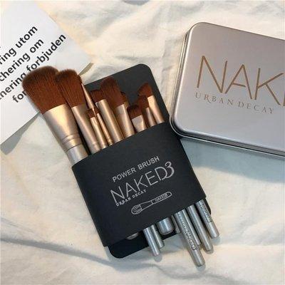 12支化妝刷鐵盒套裝 初學者全套專業彩妝美妝修容工具套刷子