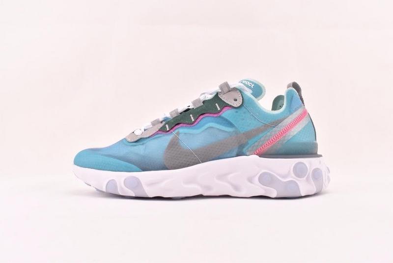 Nike React Element 87/Undercover 透明藍 休閒運動 慢跑鞋 AQ1090 400 男女鞋