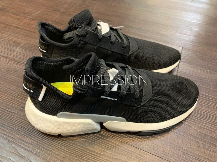 【IMPRESSION】adidas POD S3.1 黑白灰色 BOOST 慢跑 愛迪達 男鞋 BD7737 現貨