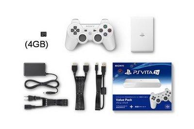 【二手商品】 SONY PSVita TV 1007 白色 4GB記憶卡 PS3手把(白) 書盒完整 【台中恐龍電玩】