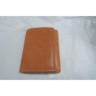 《Classic Hunter》全新Tan色印度製手工皮夾Genuine Leather Hand Craft