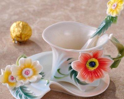 5Cgo【鴿樓】10461623494 琺琅瓷 咖啡杯 時尚 高檔 送禮 月夕花晨(單杯)