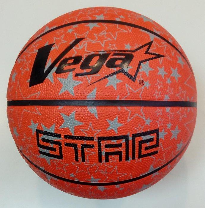 體育課 VEGA 7號ALL STAR橡膠籃球 OBR-735  橡膠材質 國、高中和社會組用球大小