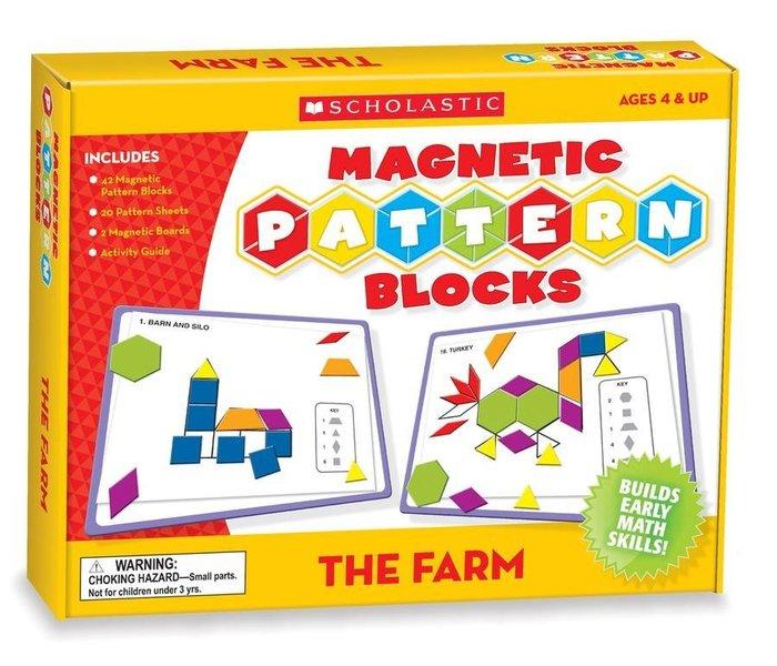 *小P書樂園* MAGNETIC PATTERN BLOCKS/磁鐵遊戲書