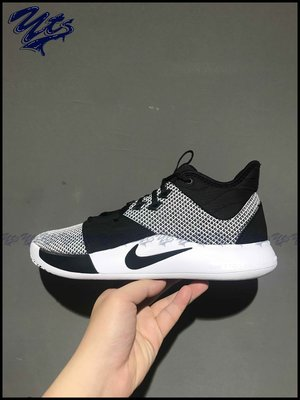 NIKE PG 3 EP 灰黑白色 籃球鞋 保羅 喬治 雷霆 太極 透氣 男鞋 運動 AO2608 002 YTS