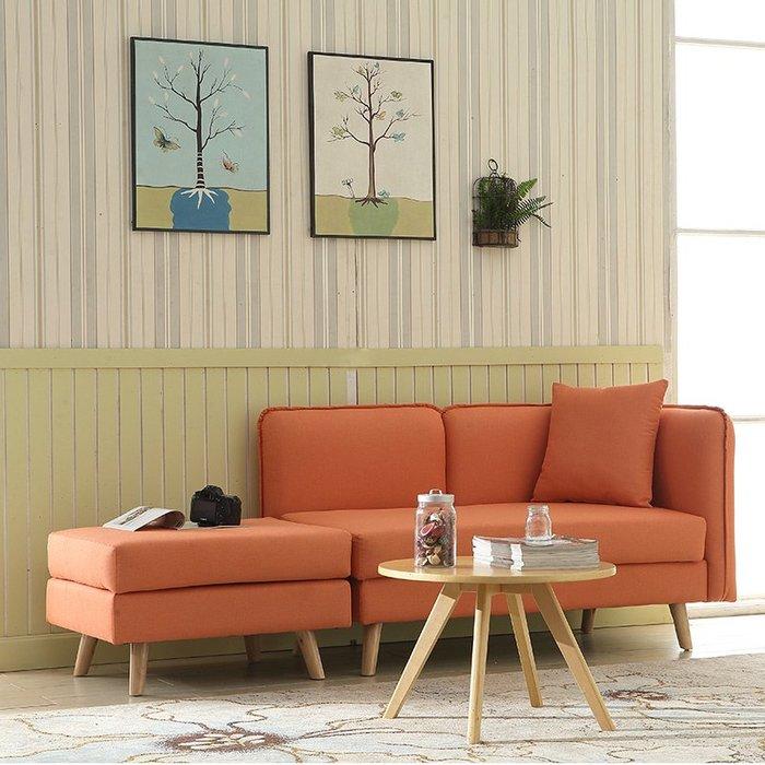 貴妃椅北歐布藝沙發小戶型組合可拆洗簡約轉角雙人貴妃懶人床椅客廳家具WY