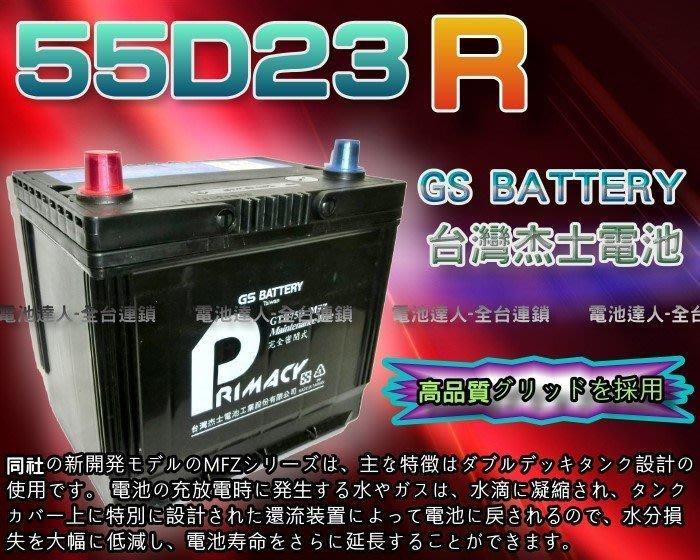 【鋐瑞電池】DIY自取交換價 杰士 GS 統力 汽車電池 55D23R LUXGEN U6 75D23R 納智捷