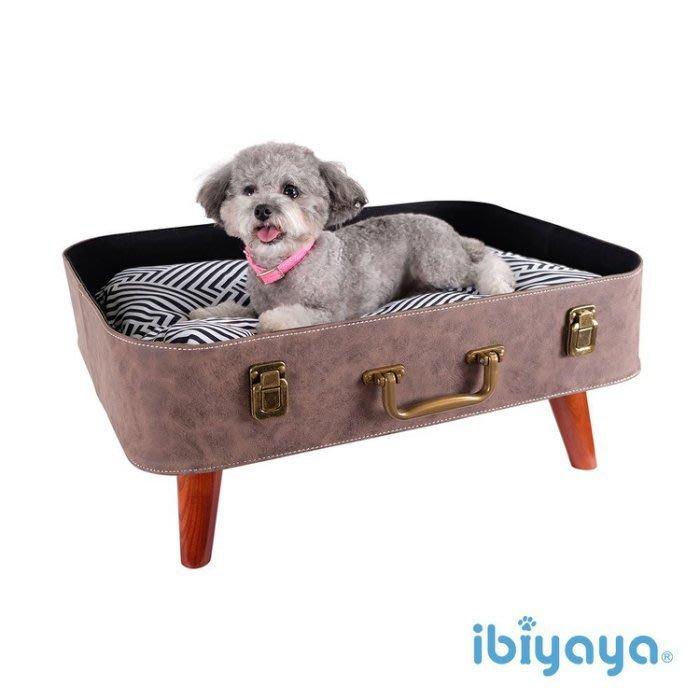 *COCO*依比呀呀-時光旅人寵物行李箱窩FB1702(附雙面睡墊)寵物睡窩/犬貓床床組/架高床IBIYAYA