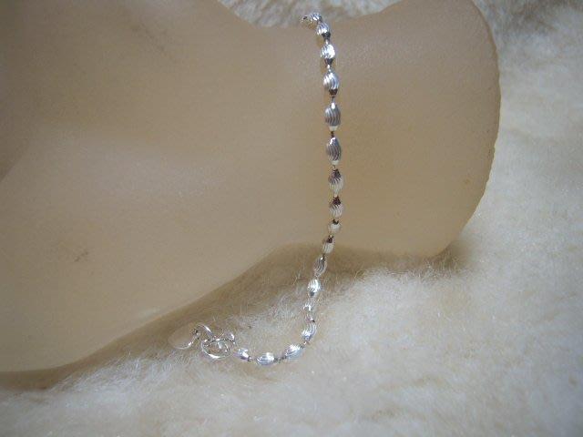 ※水晶玫瑰※ 990純銀橢圓珠手鏈(RD112)