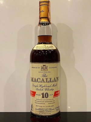 Macallan 10 years Scotch Whisky 700ml Full Proof Bottled in 1980s