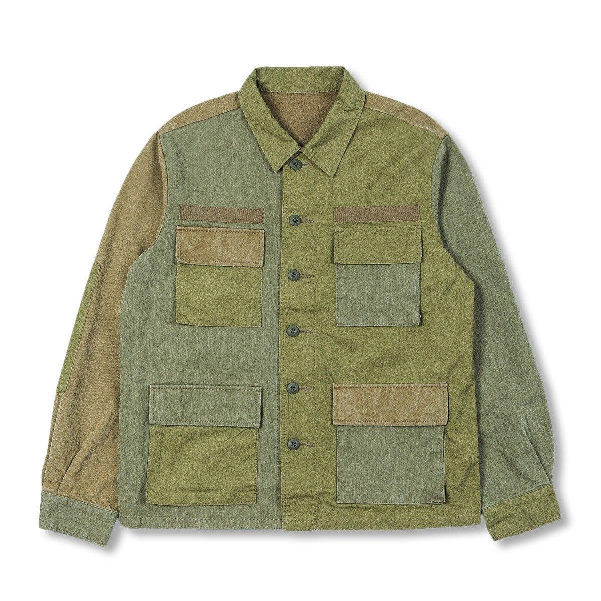 uniform experiment AW20 FABRIC MIX FATIGUE SHIRT