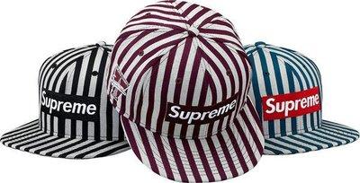 【日貨代購CITY】2013AW Supreme striped box new era 帽子 條紋 LOGO BOX 三款 秋冬 現貨