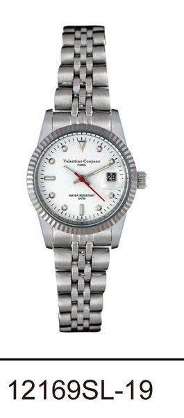 (六四三精品)Valentino coupeau(真品)(全不銹鋼)精準女錶(附保証卡)12169SL-19