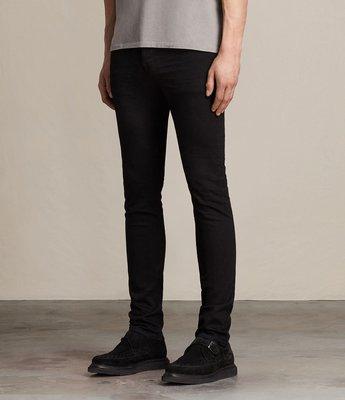 ALLSAINTS 英國 東倫敦品牌 Cigarette Skinny Fit W28 黑色 窄版 牛仔褲 單寧