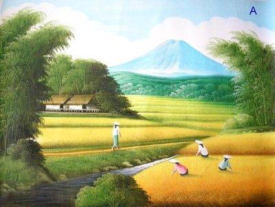 【鍾愛峇里島】巴里島必買油畫---阿貢...